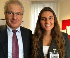 Gina Ranieri with Deputy Marco Fedi (Fall 14)