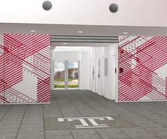Temple Japan campus plan lobby, architect James Lambiasi