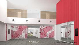 TUJ campus plan lobby, architect James Lambiasi