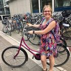 I biked to class at my university every day. Biking in Amsterdam was a great experience! The Dutch are serious about bikes--Amsterdam's streets feature large bike lanes and there are often more bikes than cars!
