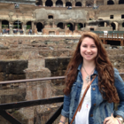 Elaina Dehoratius at the Colosseum