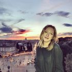 Maeve in the Villa Borghese Gardens in Rome, Italy