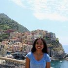 Cinque Terre or Five Towns in Italian is a picturesque view. The houses are painted vibrantly and here specifically in Manarola Harbor is where everyone comes.