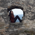 In the ruins of the Duernstein Castle in Lower Austria