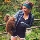 Taylore Roth with Monkeys