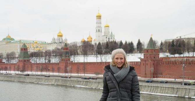 Maggie Lindrooth in Moscow