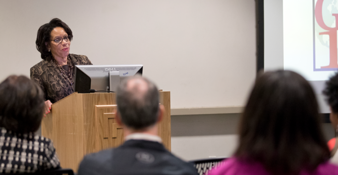 Provost Epps speaks at the 2016 conference plenary