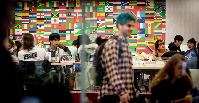 Students in common area - Ryan Brandenberg