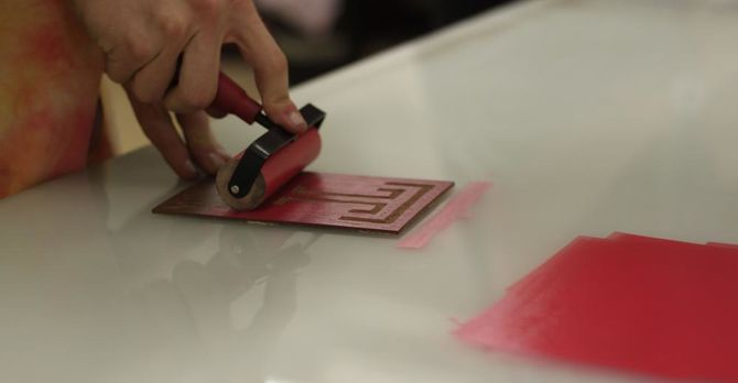 non-toxic printmaking at Temple Rome