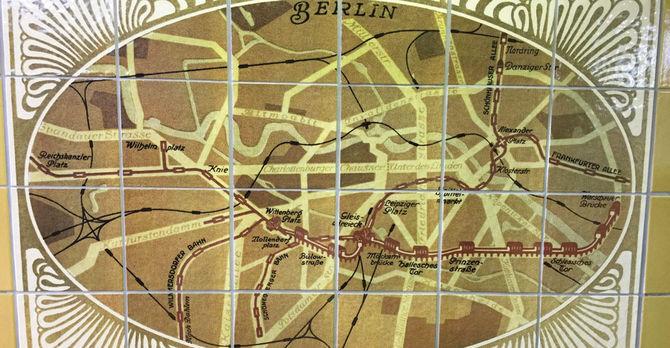 Berlin Map Mosaic