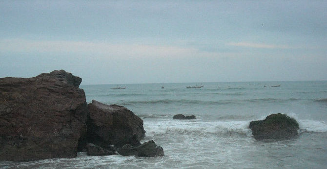 Accra coastline