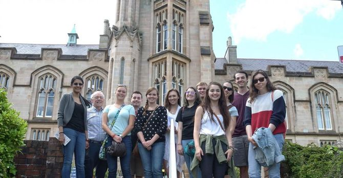 Summer 2015 group at the University of Ulster, Magee Campus