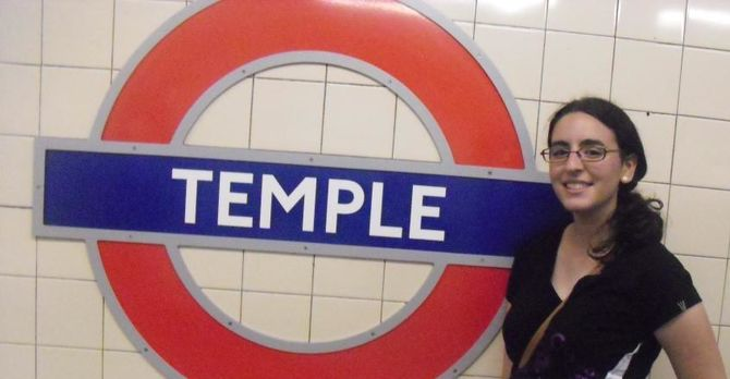 Temple Tube Station in London