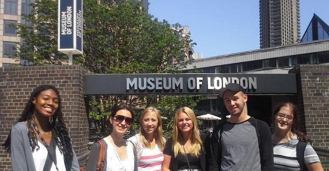 Students at the Museum of London