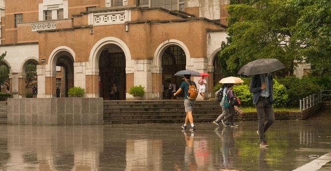 NTU on a rainy day