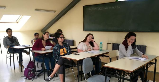 University of Oviedo students in class