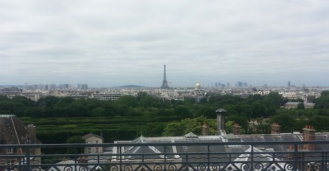 View of the Eiffel Tower
