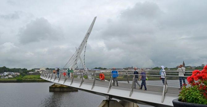 The Peace Bridge in Derry/Londonderry