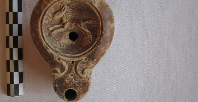 Excavated pottery