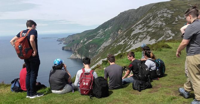 students hiking summer 2017