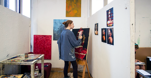 Painting studio fall 2018 Betsy Manning