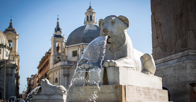 Rome, piazza del popolo