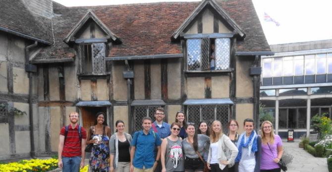Students in Stratford Upon Avon