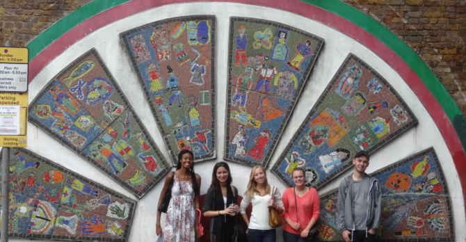 Students at Brick Lane