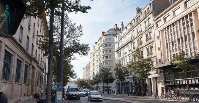 Beautiful, wide streets of Lyon.