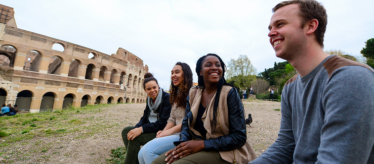 Students at the Colosseum (Maggie Andreson)