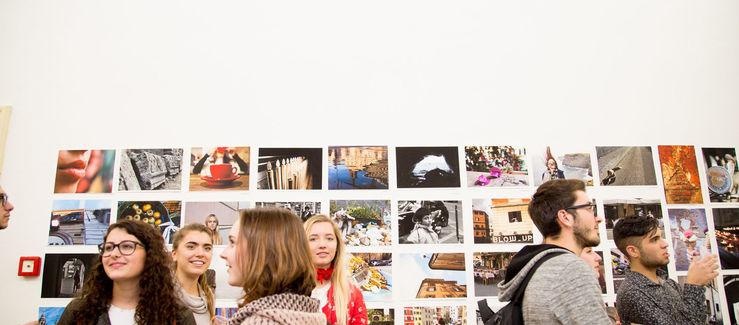 student exhibit in Rome