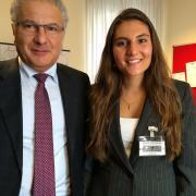 Gina Ranieri with Deputy Marco Fedi