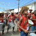 Percussionists playing during a day-long festival in Saubara, a rural town in northern Brazil